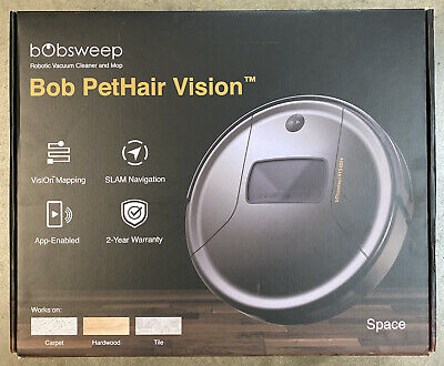 BobSweep Bob PetHair Vision Robot Vacuum Cleaner - Brand New