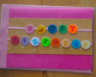 fertigte Geburtstagskarte aus Papier, Satinband Din C6 (Geburtstag Handwerk)