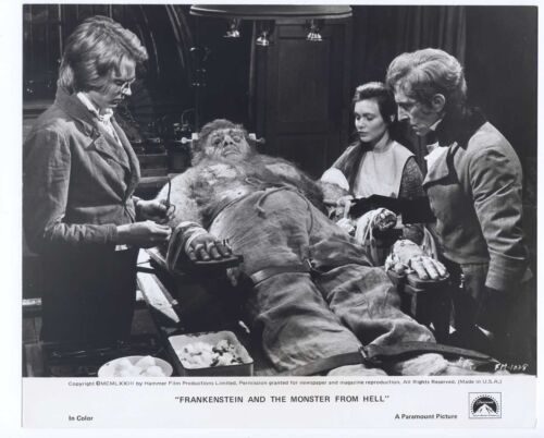 Peter Cushing 1973 Frankenstein And The Monster From Hell Original 8x9.5