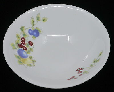 MARTHA STEWART EVERYDAY SOUP, CEREAL BOWL, WHITE W/ FRUIT DECORATION, MULTIPLES! Cereal Bowl Decoration