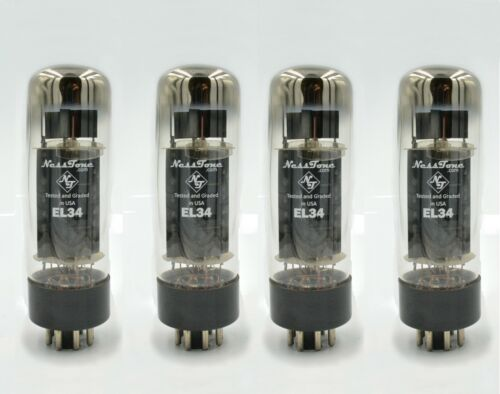 NEW NESSTONE EL34 **QUAD** Tubes Sweet Tone 6CA7 Valves Tested Tightly Matched