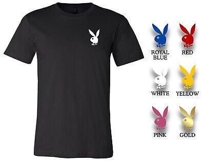 Playboy Bunny Custom Tee T-Shirt Hefner Brand New Choose Color Bunny Black Tee