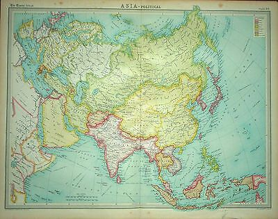 1920 LARGE MAP ~ ASIA ~ POLITICAL ~ 23