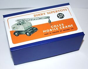 DINKY Reproduction Box 571 Coles Mobile Crane (971) High Quality
