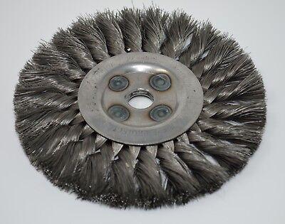 6 Knot Wire Wheel Brush 58 Arbor 1-12 Trim Ab Carbon Wire Osborn
