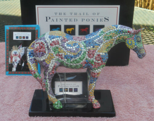NIB PRE-E 1598 CABALLO BRILLIANTE 2003 Trail of Painted Ponies RETIRED 1st HERD