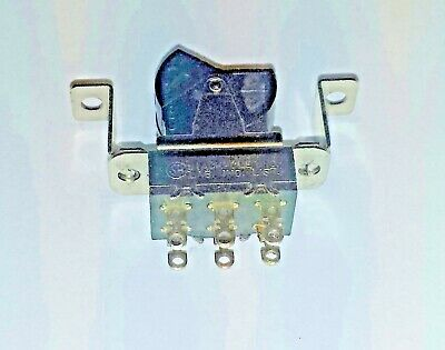 Black DPDT Stackpole 3 Amp 125 VAC Rocker Switch 1970's ampl