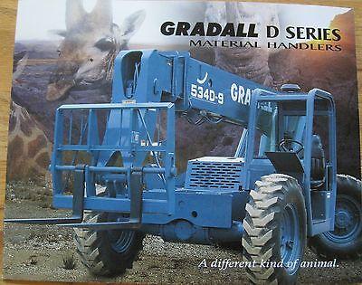 Gradall D-series Forklift Original 1998 Product Brochure - 522d 524d 534d 544d