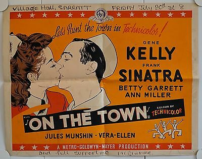 ON THE TOWN ORIGINAL POSTER Gene Kelly
