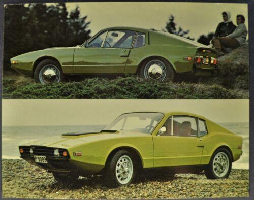 1970-1971 Saab Sonett III Large Postcard Excellent Original