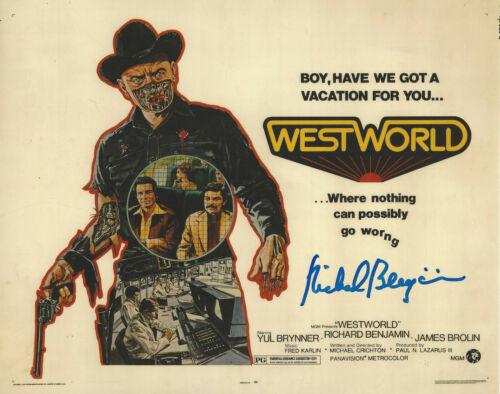 RICHARD BENJAMIN SIGNED AUTHENTIC 'WESTWORLD 1973' 8x10 MOVIE PHOTO E COA ACTOR