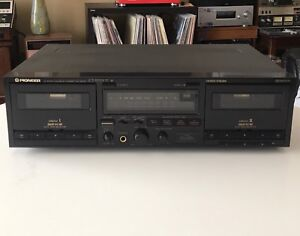 PIONEER Tape Deck CASSETTE PLAYER Dual WORKS PERFECT clean NICE!