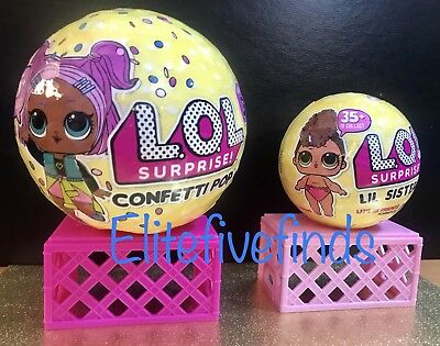 Series 3 Lol Surprise Confetti Pop Big   Little Lil Sister Doll Set Of 2 In Hand