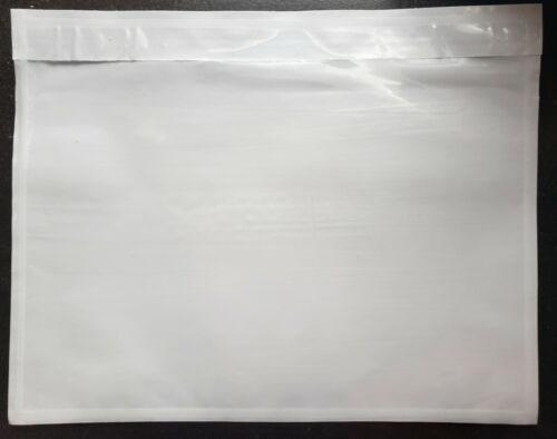 "100 - Clear 7"" x 5 1/2"" Packing List Envelope Invoice Slip Self Seal Pouch"
