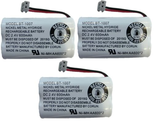 NEW Genuine Uniden BT1007 NiMH Rechargeable Cordless Telephone Battery (3-Pack)