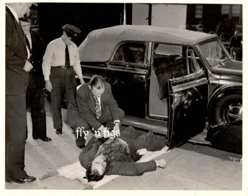 1937 original press photo ~ GANGSTER HOMICIDE POLICE ~ BROOKLYN, NEW YORK CITY