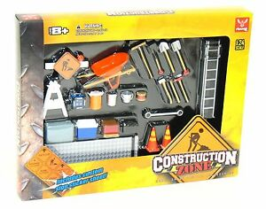 Phoenix-18425-1-24-Construction-Zone-Diorama-Set-NIB-25-pcs