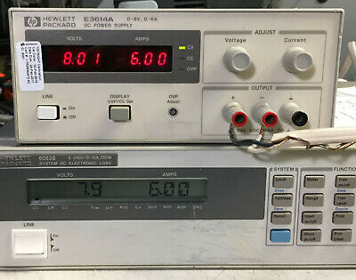 Hp Agilent E3614a Variable Dc Power Supply 0-8v 6a - Load Tested