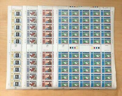 Botswana 1990 - Scott# 468-71 - Anniversaries of Events - Set of 4 Sheets  - MNH