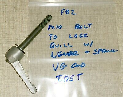 Emco Maximat Fb-2 Mill Drill Gearhead Parts Quill Lock W Spring Handle I05t