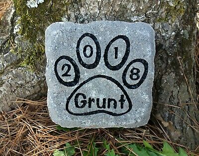 Pet Memorial Stone Cat or Dog personalized engraved paver stone