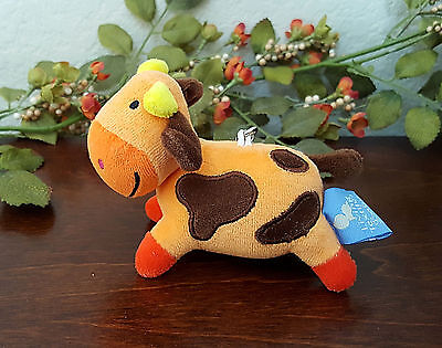 Living Textiles Baby Cow Backpack Bag Clip Keychain Stuffed Plush Farm Animal 5
