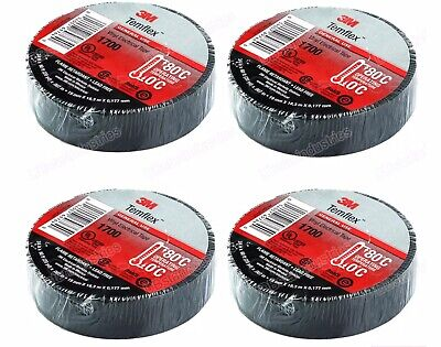 4 Rolls 3m Temflex 1700 Electrical Tape Black 34 X 60 Ft Insulated Electric