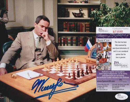 Garry Kasparov In-Person Signed 8x10 Photo w/ JSA COA #R73590