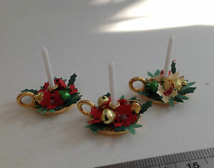 DOLLS HOUSE MINIATURES  - Christmas Night Candle x1