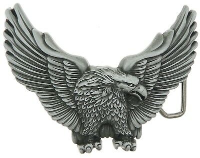 Western American Eagle Metal Belt Buckle