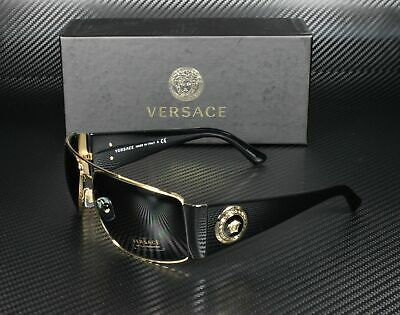 VERSACE VE2163 100287 Gold Gray 63 mm Men's Sunglasses