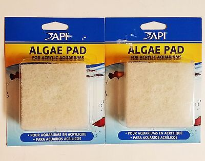 API Algae Pad *2 PACK* for Acrylic Aquariums **FAST SHIPPING**