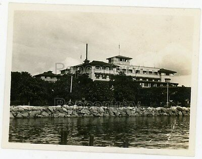 Pre WW2 1929 Photograph Philippines Manila Officers Club Wharf Sharp Photo