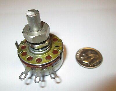 100k Ohm 2 Watt Potentiometer Allen-bradley  Sd Adjust Locking Wshaft Refurb
