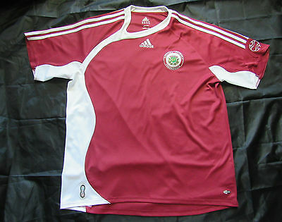 LATVIA home shirt jersey ADIDAS 2006-08 trikot Sarkanbaltsarkanie adult SIZE XL image