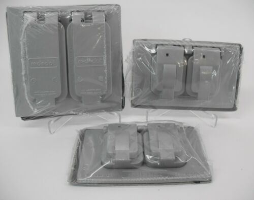 STEEL CITY RED DOT WR281-C 7 WR81-C WATERPROOF OUTDOOR OUTLET COVERLOT OF 3 NEW