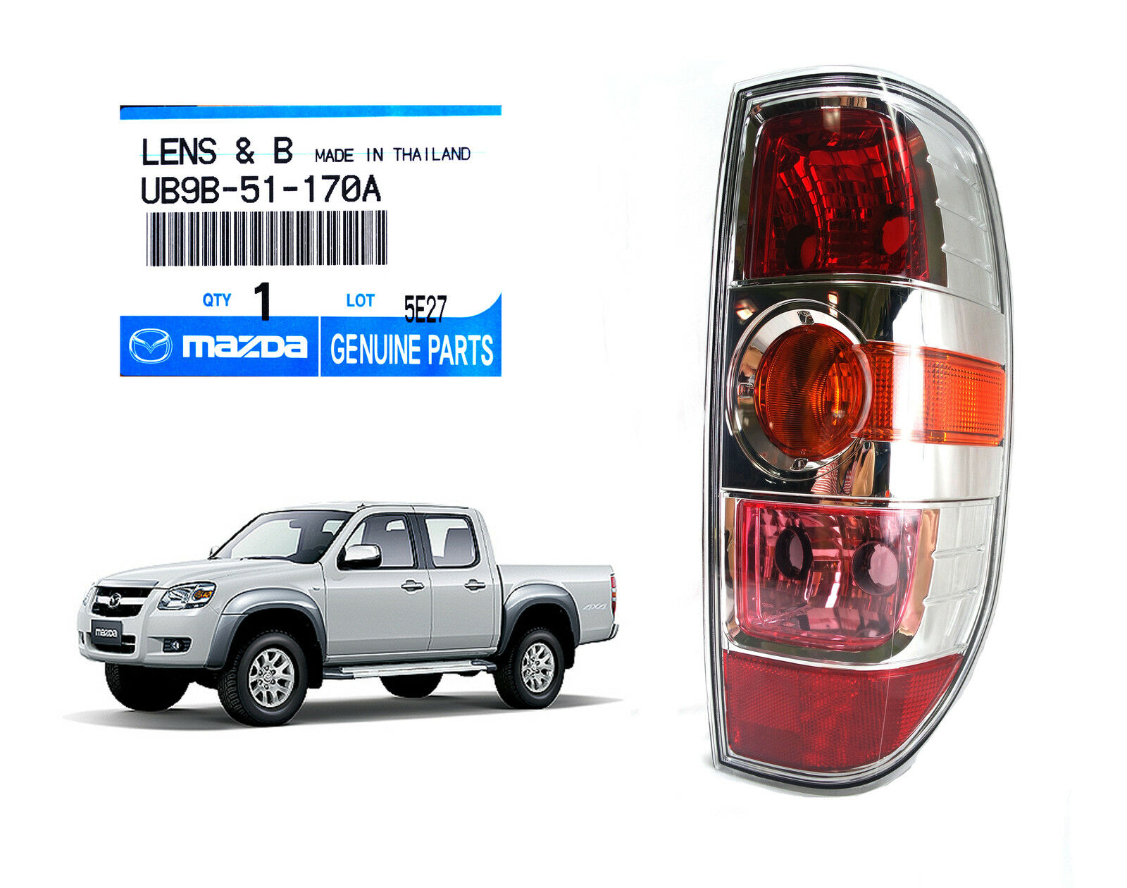 Chrome right rear tail lamp light fit mazda bt50 bt 50 xtr ute pick chrome right rear tail lamp light fit mazda bt50 bt 50 xtr ute pick up 2008 2011 thecheapjerseys Choice Image