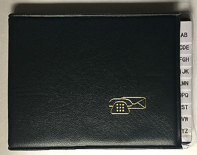 Mini Taschen Adressbuch Telefonregister Telefonbuch Notruf Nummern Buch blau