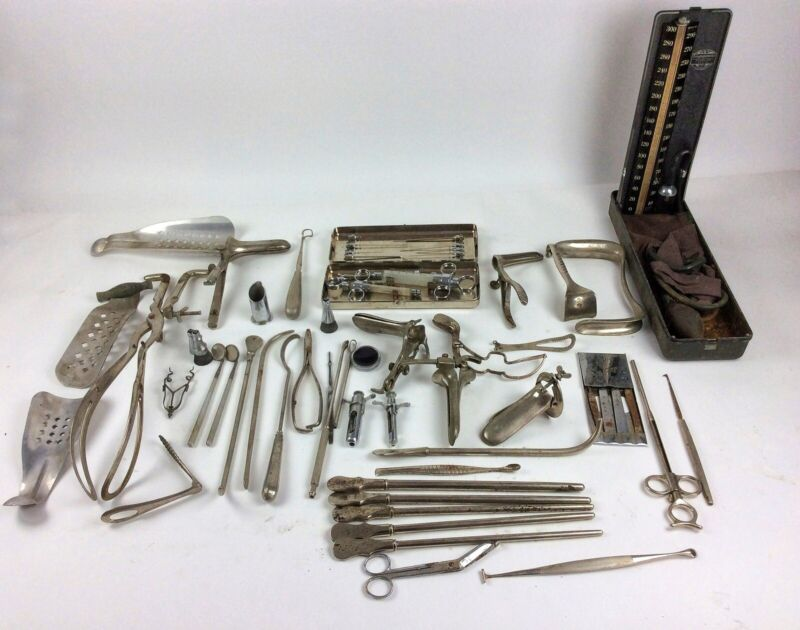 45 Antique medical Doctor instruments tools