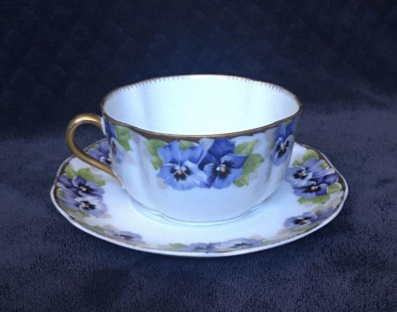 RARE Antique Rosenthal Kronach Bavaria Viktoria Luise Tea Cup & Saucer