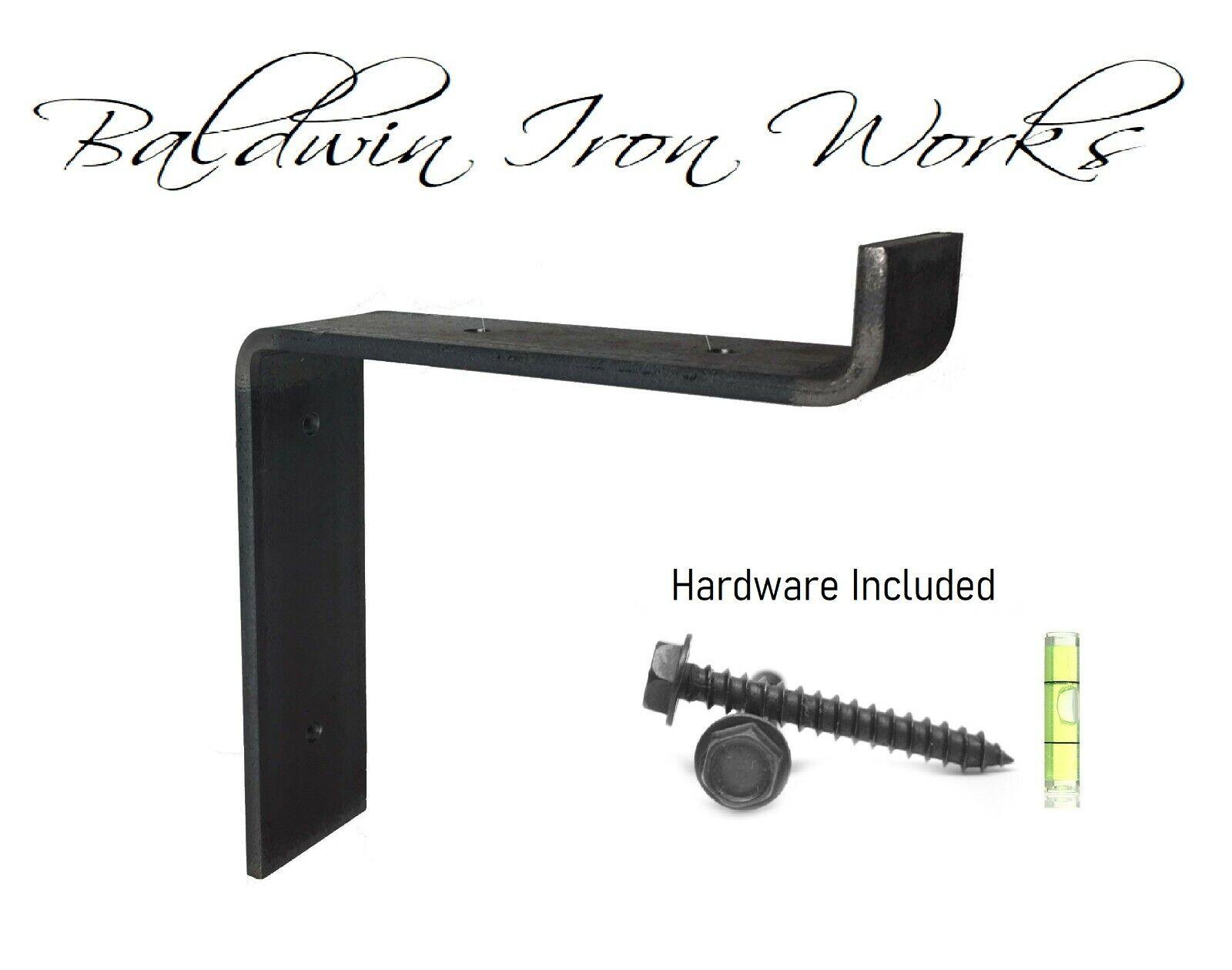 """Metal Shelf Bracket, Rustic, Industrial, Modern, Farm Style, 1"""" Front Lip"""