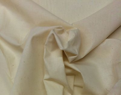 MUSLIN NATURAL 100% COTTON HEAVY QUALITY UNBLEACHED FABRIC BY THE YARD 47