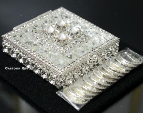Arras De Boda Plata Wedding Ceremony 13 Unity Coins Silver Box Bridal New Square