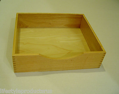 2 New Wood Wooden Stackable Document Letter Tray Office Desk Organizer Trays