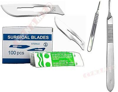 100 Scalpel Blades 10 20 Handle 3 Handle 4 Suitable For Dermaplaning