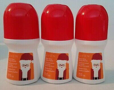 Avon (Qty 3) KIDS Bath Time Body Paints Bubble Gum 1.7 fl.oz/50 ml each