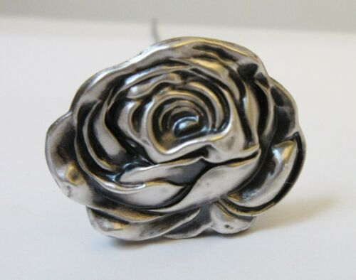 Antique Hatpin Sterling Silver Rose