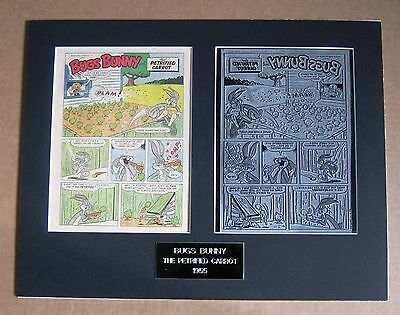 Bugs Bunny Vintage 1955 Printing Plate - 4 page story !