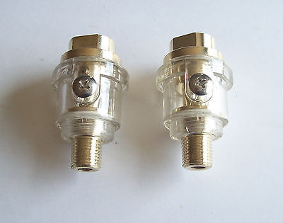 2 Pneumatic Air Tool Oilers Brass Automatic Air Line