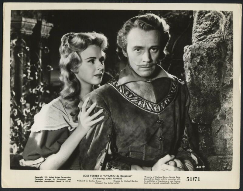 MALA POWERS WILLIAM PRINCE in Cyrano De Bergerac